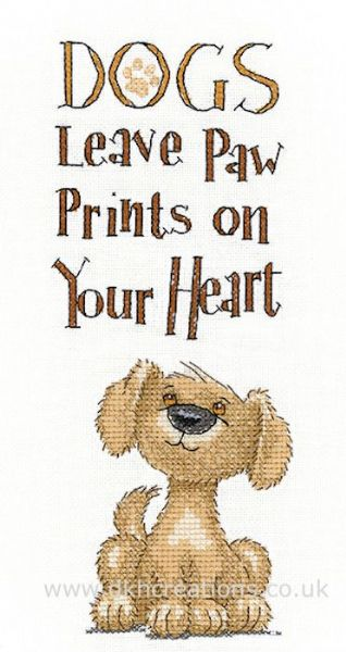 Paw Prints Cross Stitch Kit